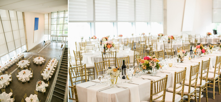 Ceremony And Reception Grand Rapids Art Museum Wedding Planning Allison Andree With All Oned Up Events Catering The Gilmore Collection